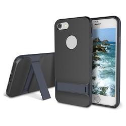 iphone 8 plus-Coque Rock Royce béquille-Grise