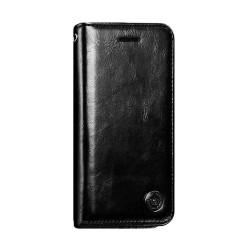 iPhone SE (2020) - Etui portefeuille support simili cuir souple fermeture magnétique -Noir