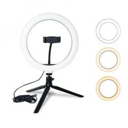 lampe avec trépied pour vidéo en direct beauté lampe de maquillage lampe selfie