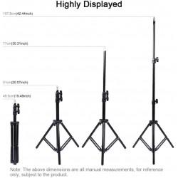 LED Lumière Anneau avec Trépied, Réglable 50-160cm