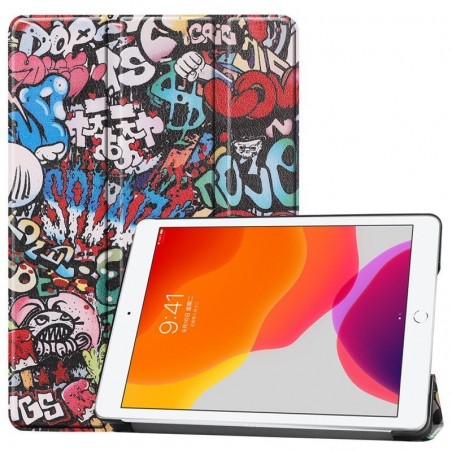 iPad 7 10.2''- étui support inclinable Graffiti