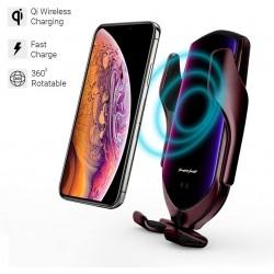 Chargeur de Voiture sans Fil pour téléphone Portable iphone samsung - Ouverture automatique à infrarouge