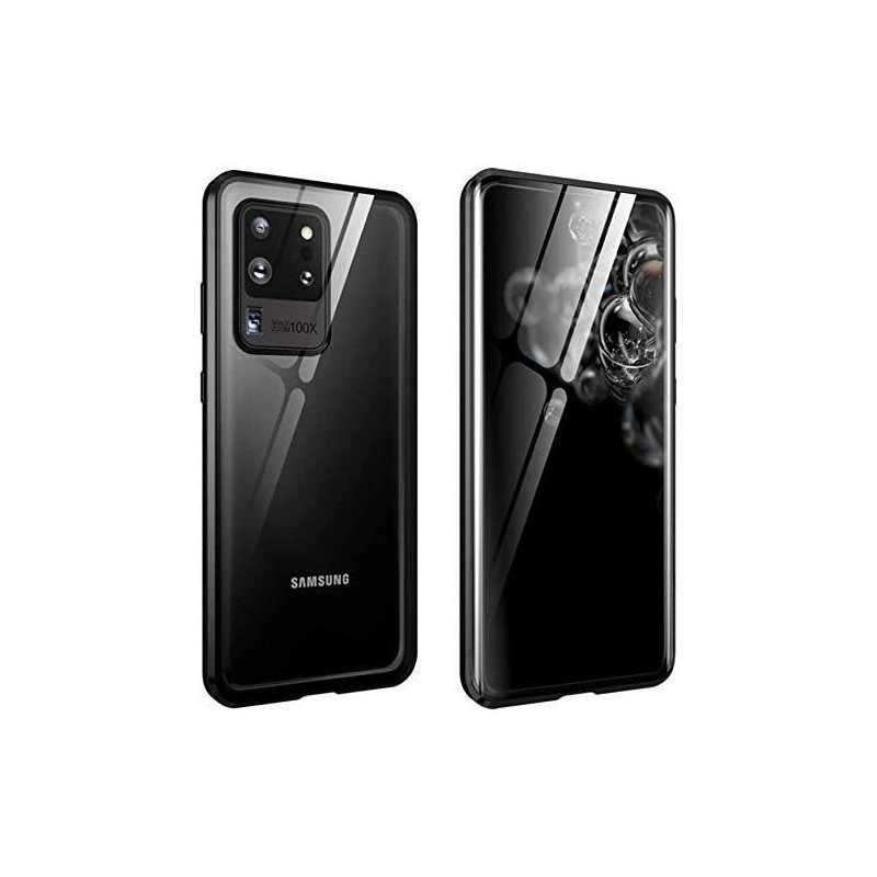 Galaxy S20 ultra - Etui lux metallique double face avec verre trempé
