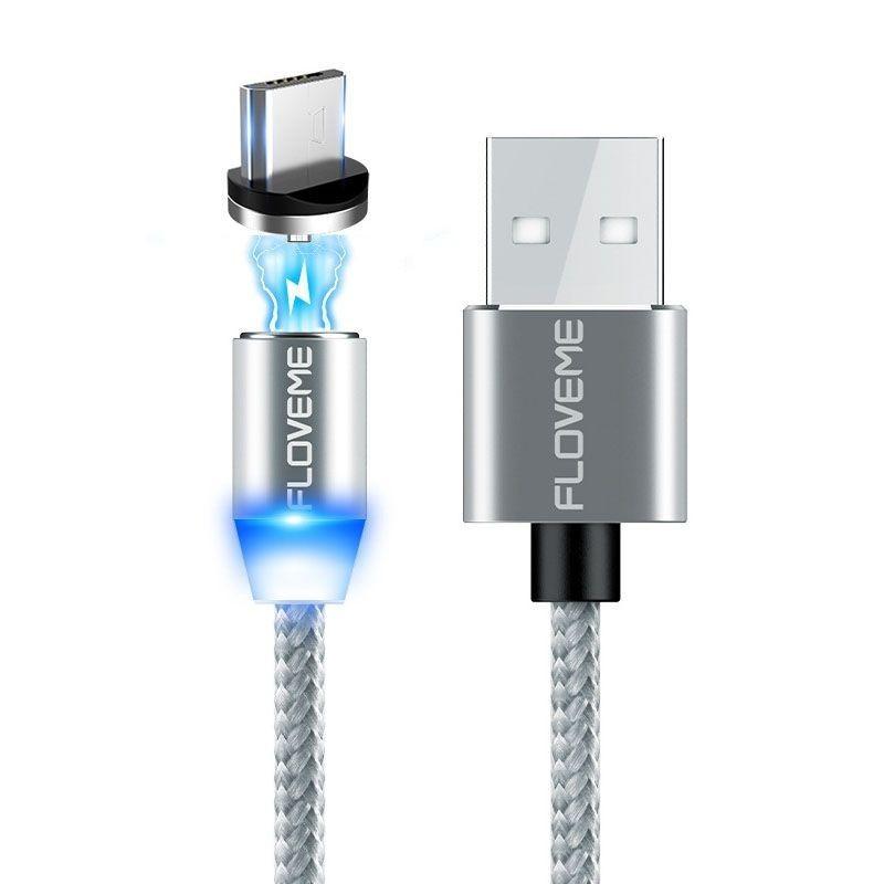 Câble de recharge USB LED magnétique tressé
