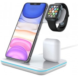 3 en 1 Chargeur à Induction Apple Watch iPhone airpods