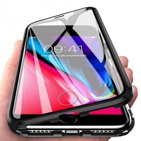 iPhone SE 2020 - Coque Transparente Adsorption Magnétique étui Antichoc-BLEU