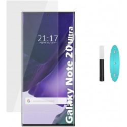 Galaxy note 20 ultra - Protection Écran en Verre trempé de Dispersion Liquide avec Lumière UV 3D