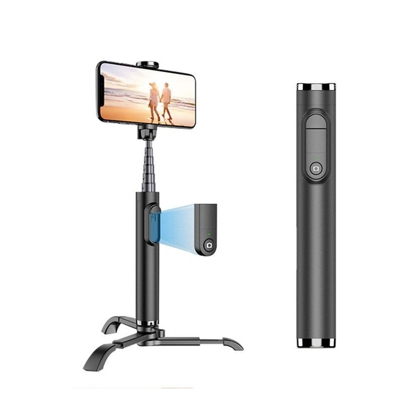 Cyke bluetooth with tripod wireless remote control smart selfie 360 tripod