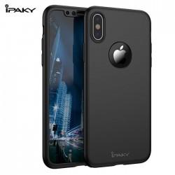 iphone XR-Coque intégrale NOIRE avec verre trempé offert