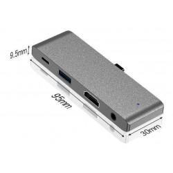 Hub USB C pour iPad Pro 2018 2020,7 en 1 type C vers HDMI 4K Adaptateur 60 W