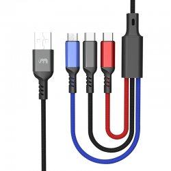 Câble Multi USB, 3 en 1...