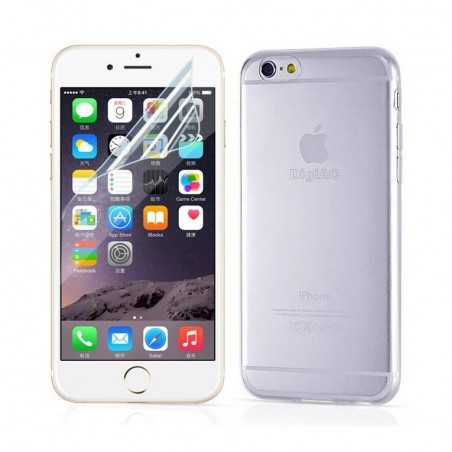 iPhone 6 plus- kit Coque transparente+Film écran