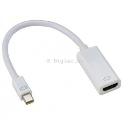 Mâle Mini DisplayPort à Femelle HDMI type A 19 broches
