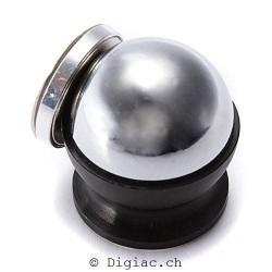 Support Voiture Auto Socket Montage Boule Magnétique Métal pour Mobile Téléphone PDA GPS Tablet