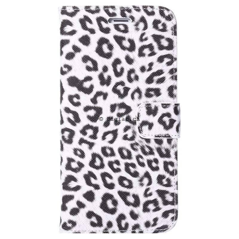 iPhone 6 plus (5.5)- Etui Portefeuille léopard