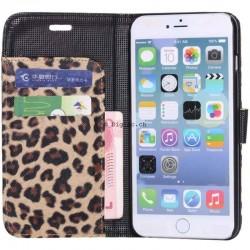 iPhone 6 (4.7)- Etui Portefeuille léopard - Blanc
