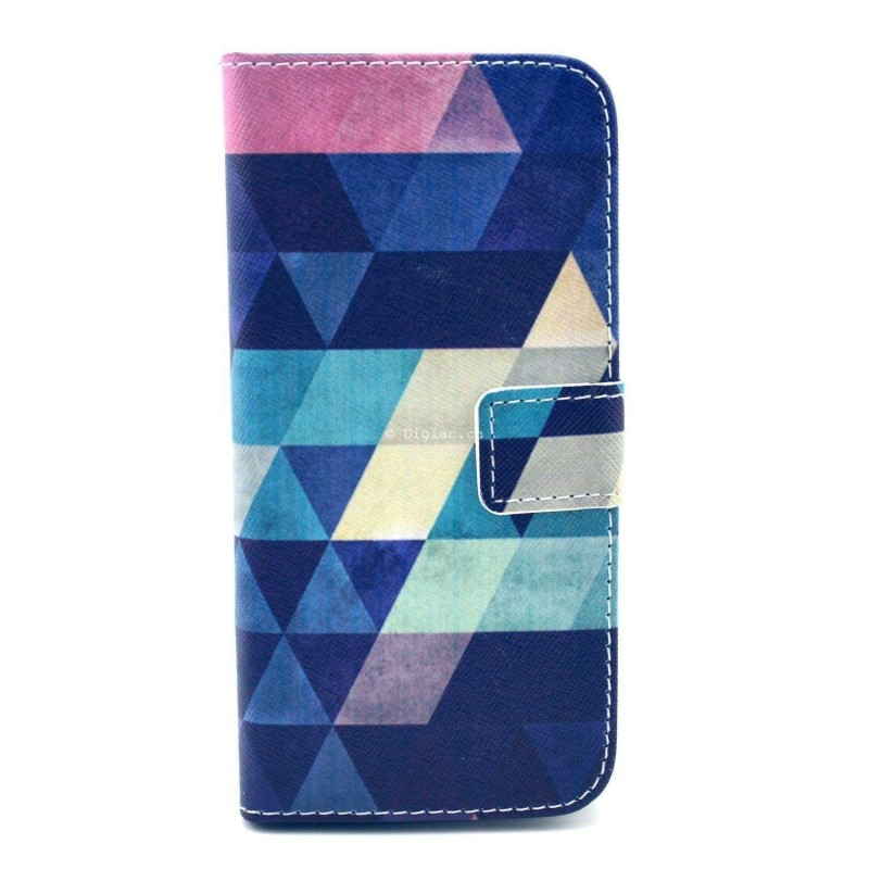 iPhone 6 - Etui support portefeuille motif abstrait
