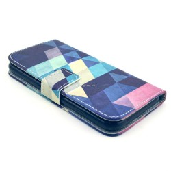 iPhone 6 plus - Etui support portefeuille motif abstrait