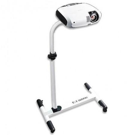 Support rigide blanc avec roulettes pour projecteur