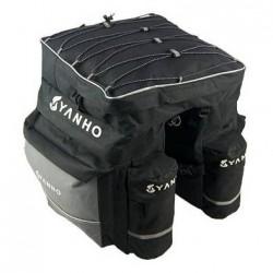 Grande sacoche double extensible avec housse imperméable pour Vélo