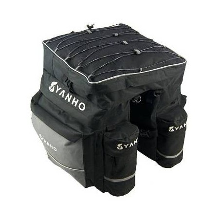 Sacoche double extensible avec housse imperméable pour Vélo moto
