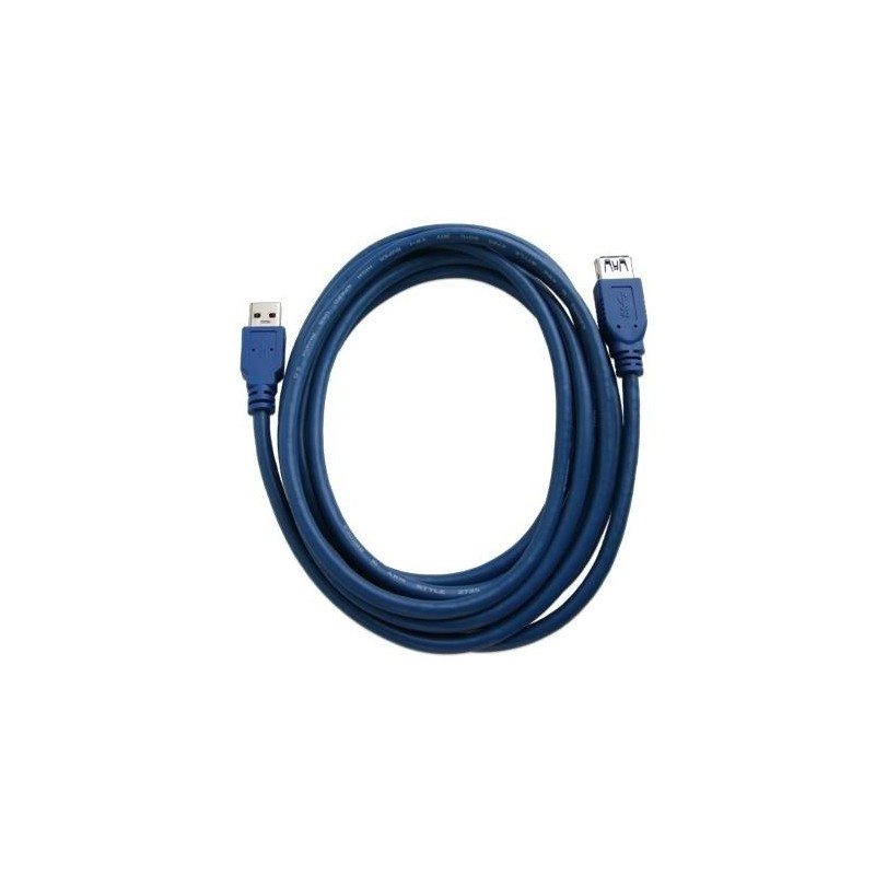 Câble rallonge USB 3.0 bleu prolonger chargeur ipad iphone