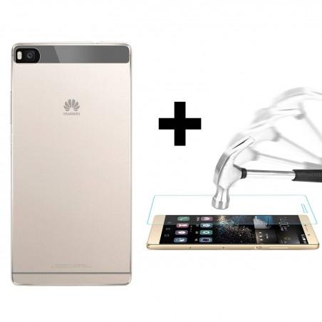 Kit Huawei P8 - coque+protection écran en verre trempé