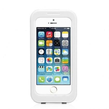 Coque caisson étanche écran tactile iPhone 6 plus-Blanc