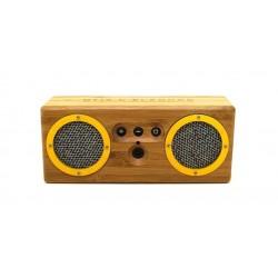 Haut-parleur bluetooth Enceinte Bongo Sao Paulo- Bamboo / jaune / bleu - Otis & Eleanor