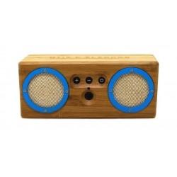 Haut-parleur bluetooth Enceinte Bongo- Bamboo /Blue/Beige - Otis & Eleanor