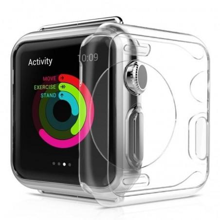 Apple Watch 42mm - coque silicone transparente