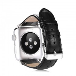 BRACELET APPLE WATCH 38 MM EN CUIR - PEAU DE CROCODILE