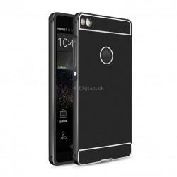 Huawei P8 - Etui à Rabat avec smart View - Noir/doré