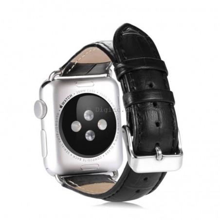 Bracelet apple watch 42mm effet crocodile
