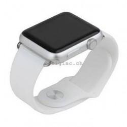Bracelet silicone pour Apple Watch 38mm avec 2 adaptateurs