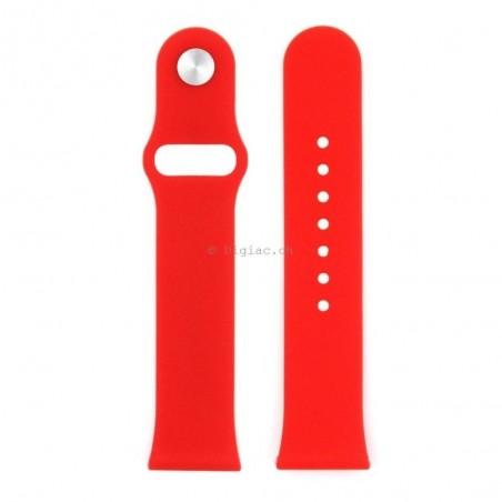 Bracelet silicone pour Apple Watch 42mm sans adaptateurs