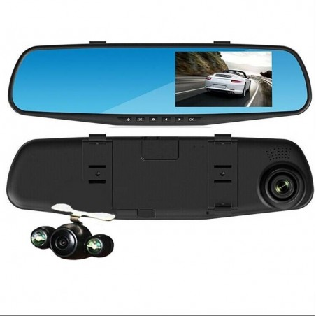 Rétroviseur intellegent avec double Dashcams Enregistreur conduite vidéo Caméra embarquée