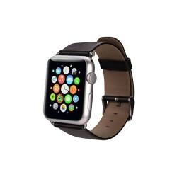 Bracelet CUIR pour Apple Watch 38mm-Noir (Sans adaptateurs)
