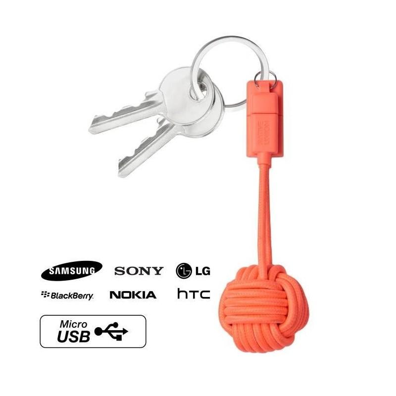 Porte-clés câble chargeur android micro USB