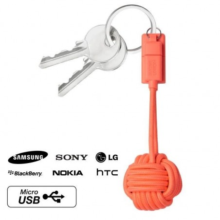 Porte-clés câble chargeur android micro USB-Marine