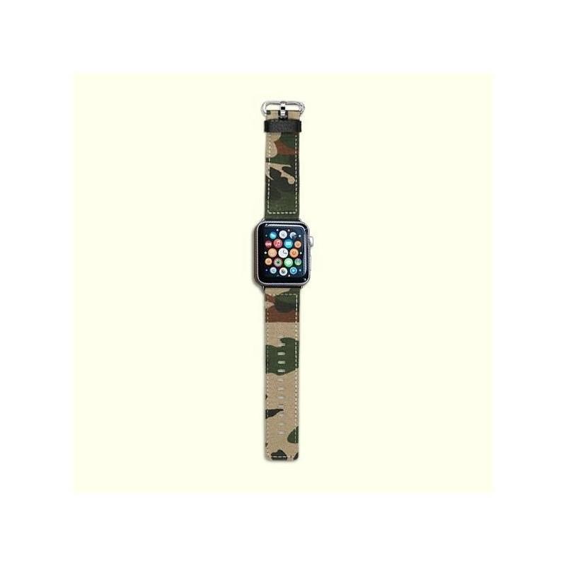 Apple Watch 38/42mm-Bracelet militaire vert avec connecteur