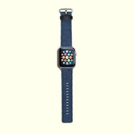 Apple Watch 38/42mm-Bracelet Bleu jeans avec connecteur