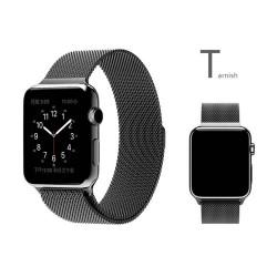 Bracelet 38mm en Noir style Milanais pour Apple Watch