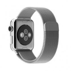 Bracelet 42mm en argent style Milanais pour Apple Watch