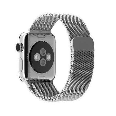 Bracelet 38mm en argent style Milanais pour Apple Watch