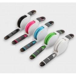 Cable 2 en 1 Micro USB Lightning plat données câble de chargeur sync pour Samsung Iphone 5 5c 5S 6 6 Plus HTC