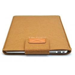 MacBook Notebook - Housse sac en laine feutre Brun