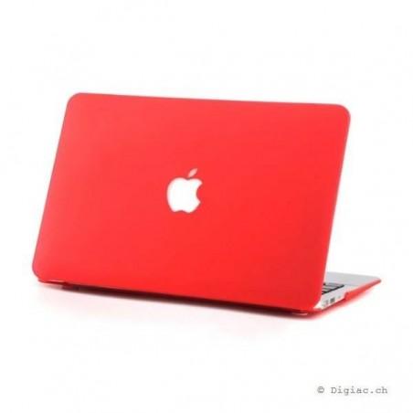 """MacBook air 11"""" - Coques mate devant et derrière rouge"""