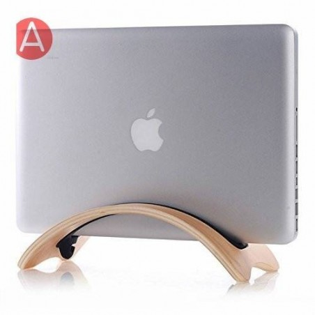 Support bois wood stand pour macbook pro /air notebook portable oeuvres d'art