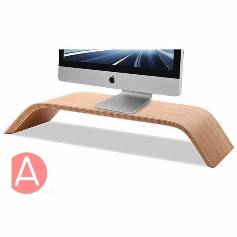 Support universel en bois pour Apple iMac, Macbook, ordinateur portable, moniteur